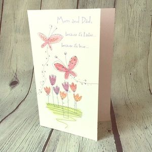 5/$15 Happy Easter Mom and Dad Greeting Card